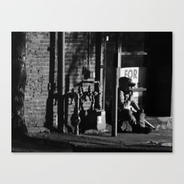 Homeless in Salem Canvas Print
