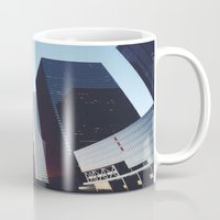 houston Mugs featuring Houston by Jorieanne