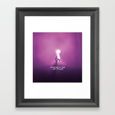 dancing is the key to life Framed Art Print