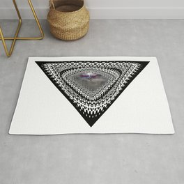 """""""Beez Lee Art : Foggy Triangle Point of View"""" Rug"""