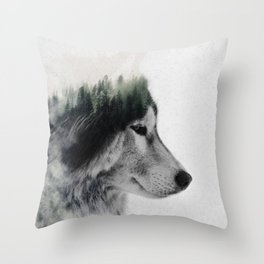 Wolf Stare Throw Pillow