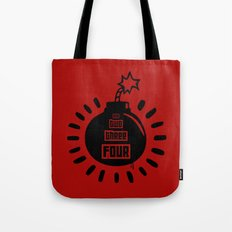 One, Two, Three, Four Tote Bag