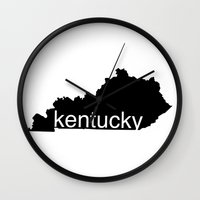 kentucky Wall Clocks featuring Kentucky by Isabel Moreno-Garcia