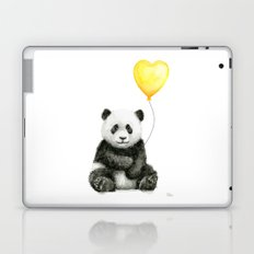 Panda with Yellow Balloon Baby Animal Watercolor Nursery Art Laptop & iPad Skin