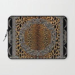 Baroque Leopard Scarf Laptop Sleeve