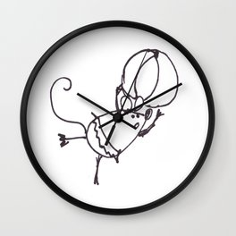 Circus Mouse Wall Clock