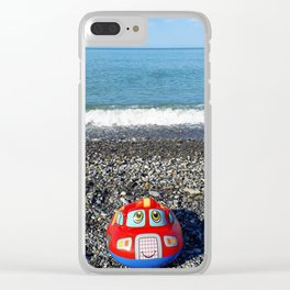 Postcard from the sea Clear iPhone Case