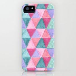 pastel triangle pattern iPhone Case