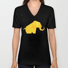 Origami Elephant Unisex V-Neck