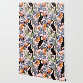 Tucan Garden #pattern #illustration Wallpaper