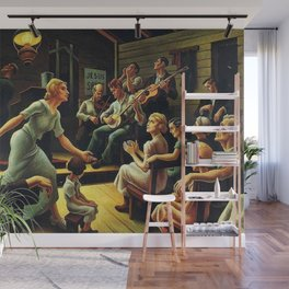 Classical Masterpiece 'Heal the Child' by Thomas Hart Benton Wall Mural