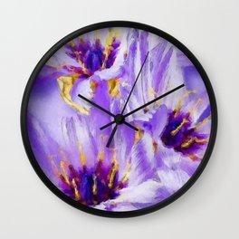 Catananche flowers Wall Clock