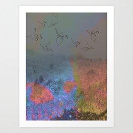 Neon Japanese Winter Art Print