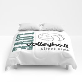 Love Volleyball Street Style Comforters