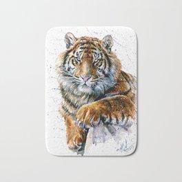 Tiger watercolor Bath Mat