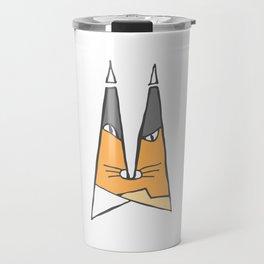 Orange cat Travel Mug