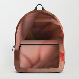 Macro photo pink flowers Backpack