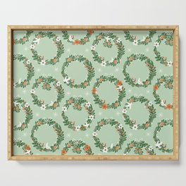 Christmas Wreath Serving Tray