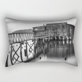 Big Red in Black and White Rectangular Pillow