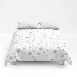 Stars silver and blush Comforters