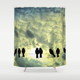 Birds Silhouette Shower Curtain