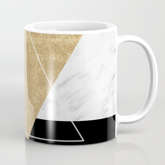 Golden marble deco geometric Coffee Mug