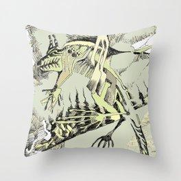 Abstract Lizard Throw Pillow