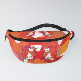 Crystal Cat - Red Fanny Pack