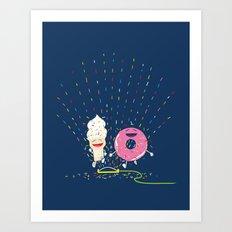 Playin' in the Sprinkler Art Print