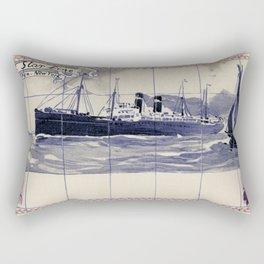 Red Star Line Antwerp New York Delft blue style Rectangular Pillow