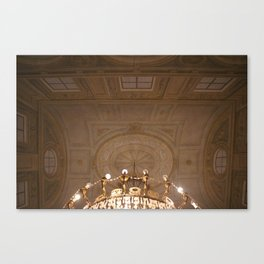 trompe l'oeil with chandelier Canvas Print