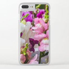 Summer Solstice Mix Snapdragons 2 Clear iPhone Case
