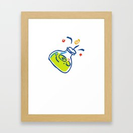 Science Lab Safety or Super Powers Funny Super Hereo Lab Accident Framed Art Print