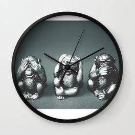 See Hear & Speak No evil Wall Clock