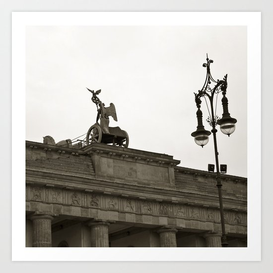 Brandenburger Tor - Quadriga - Berlin - Germany Art Print