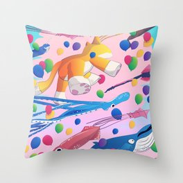 Kite Parade Throw Pillow