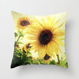 Sunflower Art 1 Throw Pillow