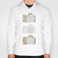 polka dot Hoodies featuring Floral & Polka Dot Cameras by Allyson Johnson