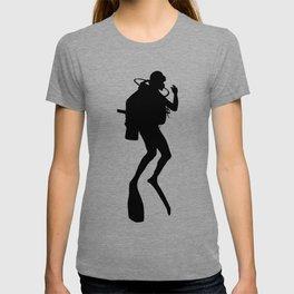 Scuba Diver Silhouette T-shirt
