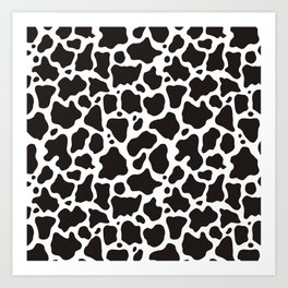 Cow pattern background Art Print