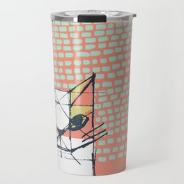 Cubist Cat Study #7 by Friztin Travel Mug