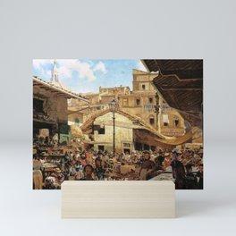 Mercato Vecchio A Firenze 1882 By Telemaco Signorini | Reproduction | Italian Painter Mini Art Print