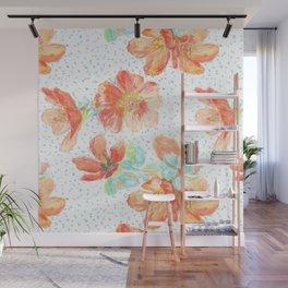 Desert Mallow floral pattern Wall Mural