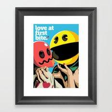 Love at First Bite Framed Art Print