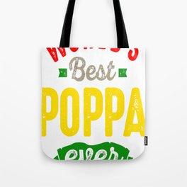 World's Best Poppa Tote Bag