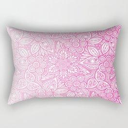 Flower Power Pattern Pink Rectangular Pillow