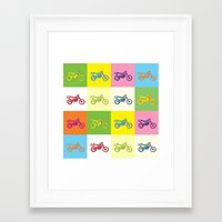 moto Framed Art Prints featuring Moto Cross by Gabi Siebenhühner