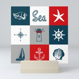 Nautical design 4 Mini Art Print