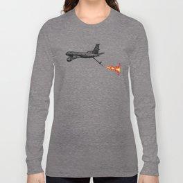 KC-135 Flames Long Sleeve T-shirt