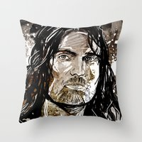 gondor Throw Pillows featuring Aragorn by Patrick Scullin